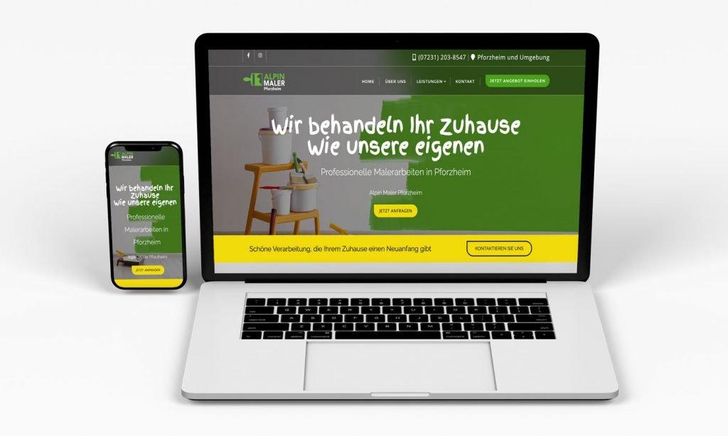 alpin maler website